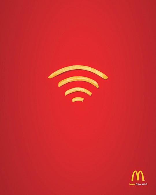 McDonalds wifi advertising poster