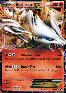 Reshiram EX Next Destinies Pokemon Card