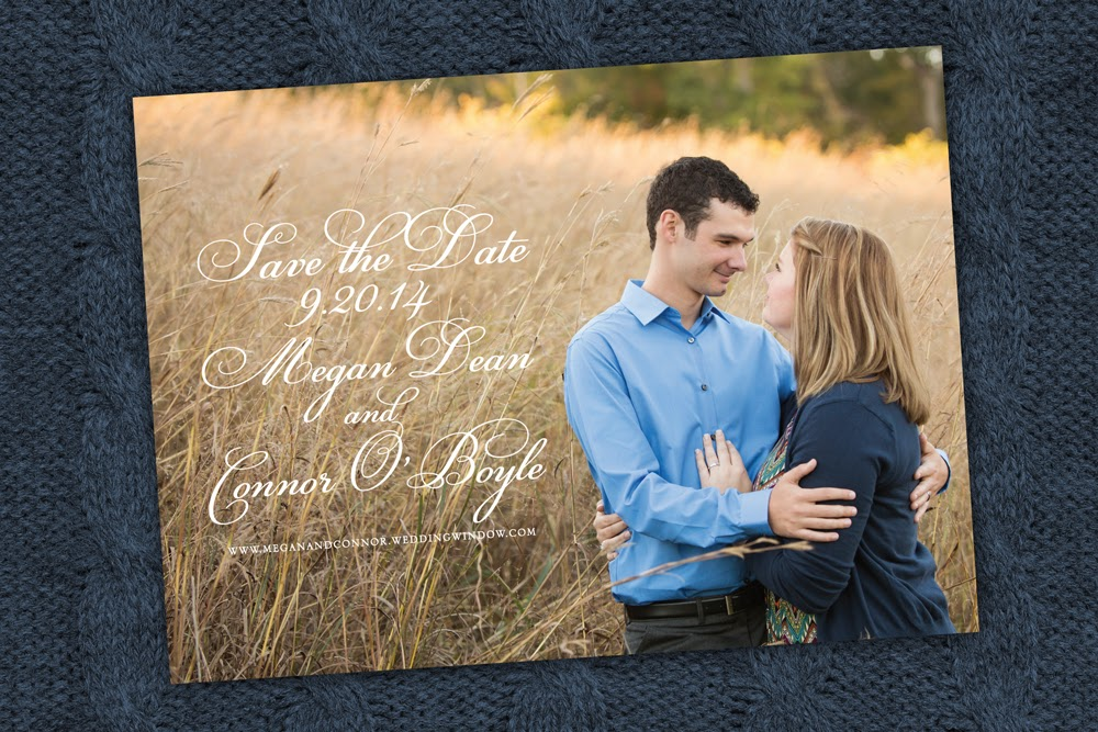 Simple but lovely save the dates, featuring a stunning photograph of the lovely couple, with clean white text