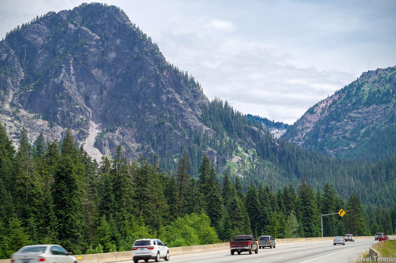 Первая половина пути проходила через Каскадные горы.