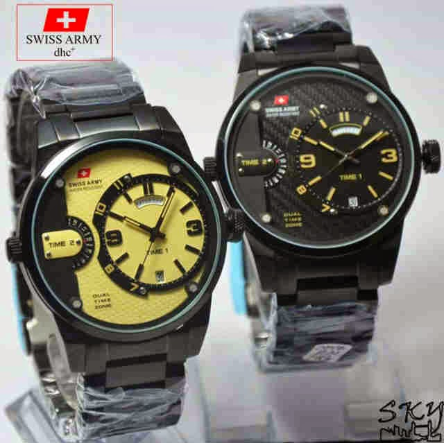 Swiss Army SA 2046 FB Original hitam krem