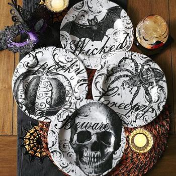 haunted elegance melamine appetizer plate set 2495 - Pier One Halloween