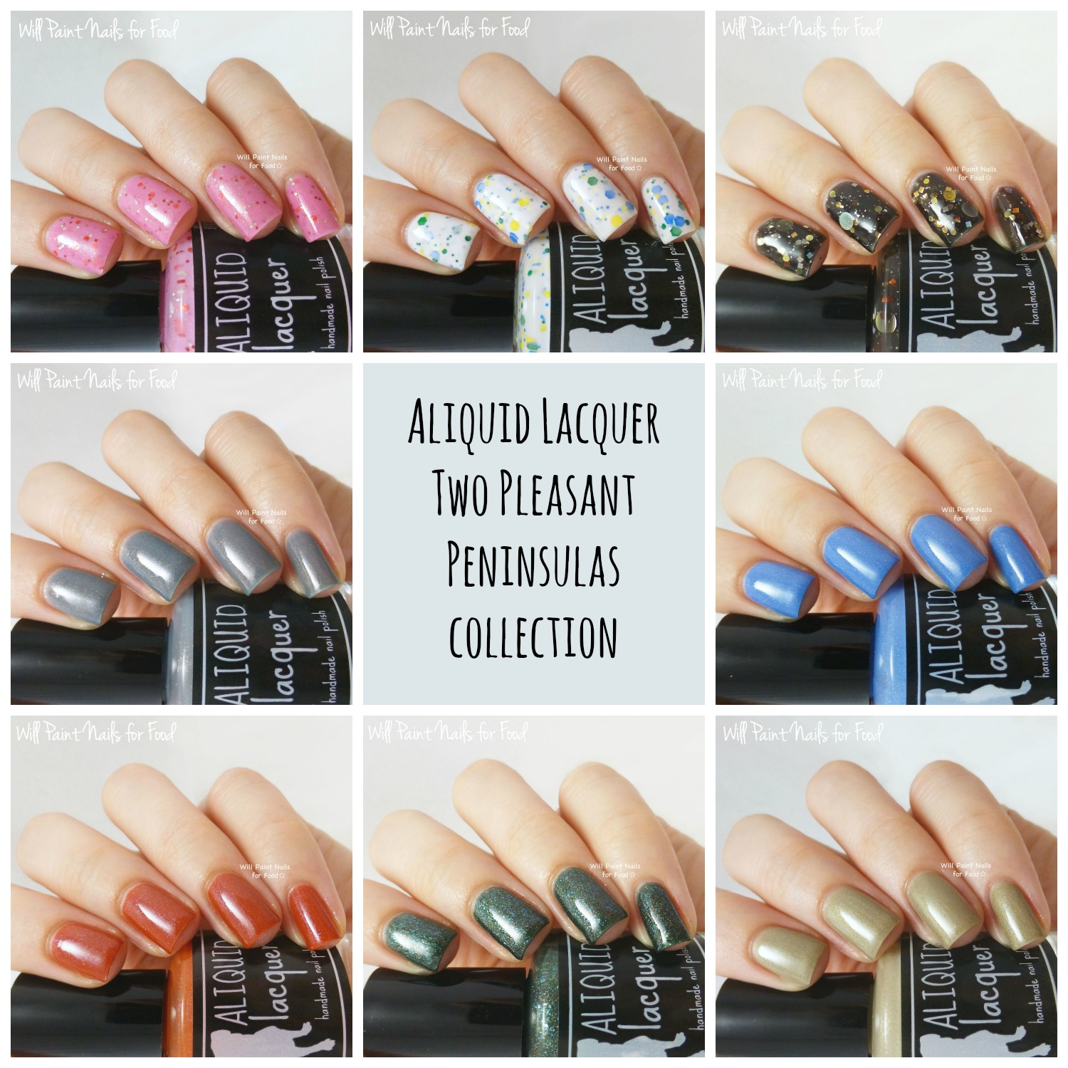 Aliquid Lacquer the Two Pleasant Peninsulas Collection