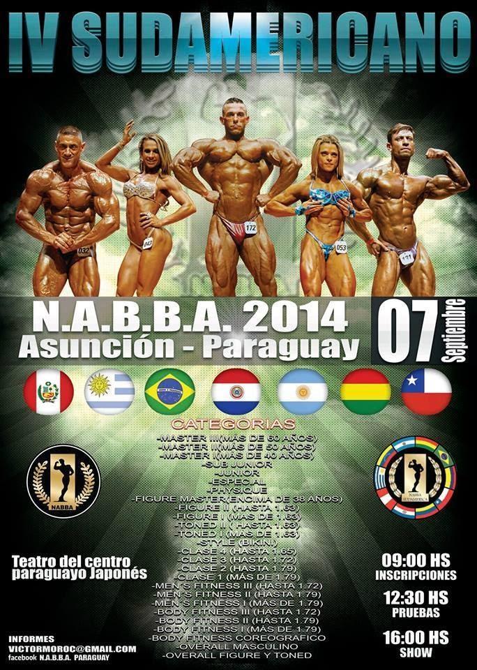 Banner do IV NABBA Sudamerica Open 2014. Foto: Divulgação