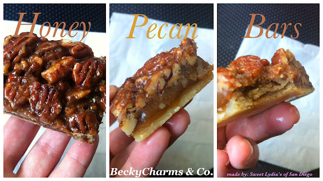 Honey Pecan Bars made by Sweet Lydia's of San Diego by BeckyCharms, desserts, sweets, treats, san diego, farmer's market