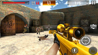 Screenshots of the Shoot war: Professional striker for Android tablet, phone.