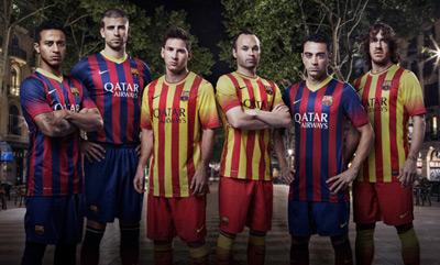 uniformes FC Barcelona 2013-2014