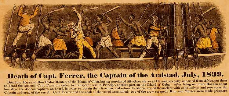 Frontispiece from john warner barber 1840 a history of the amistad