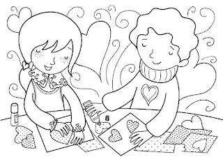 Riscos para pintura e patchwork de dia dos namorados