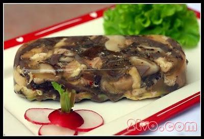 Các làm thịt nấu đông truyền thống ngày tết