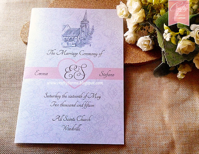 Ceremony Booklet with Wedding Order of Service All Saints Church Woodville New Zealand