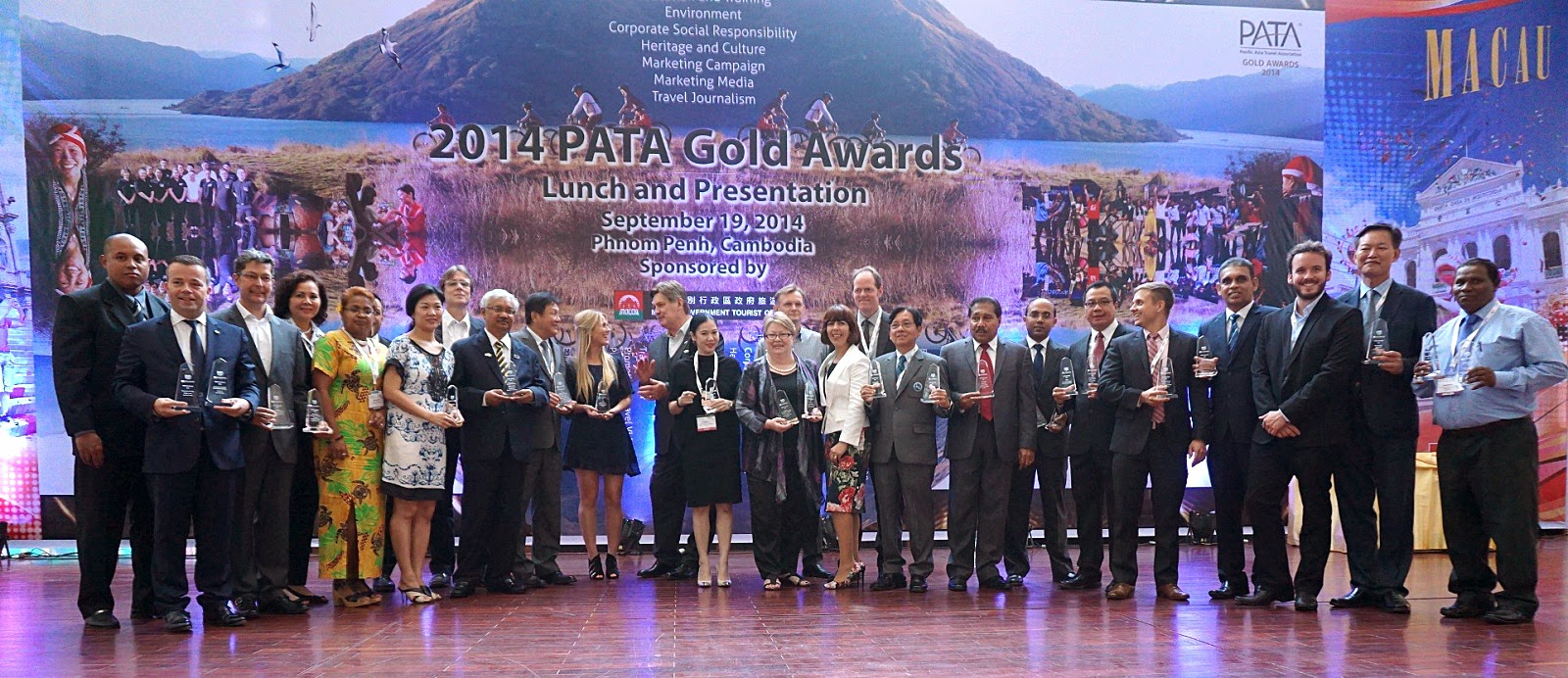Grand and Gold winners for the PATA Awards 2014