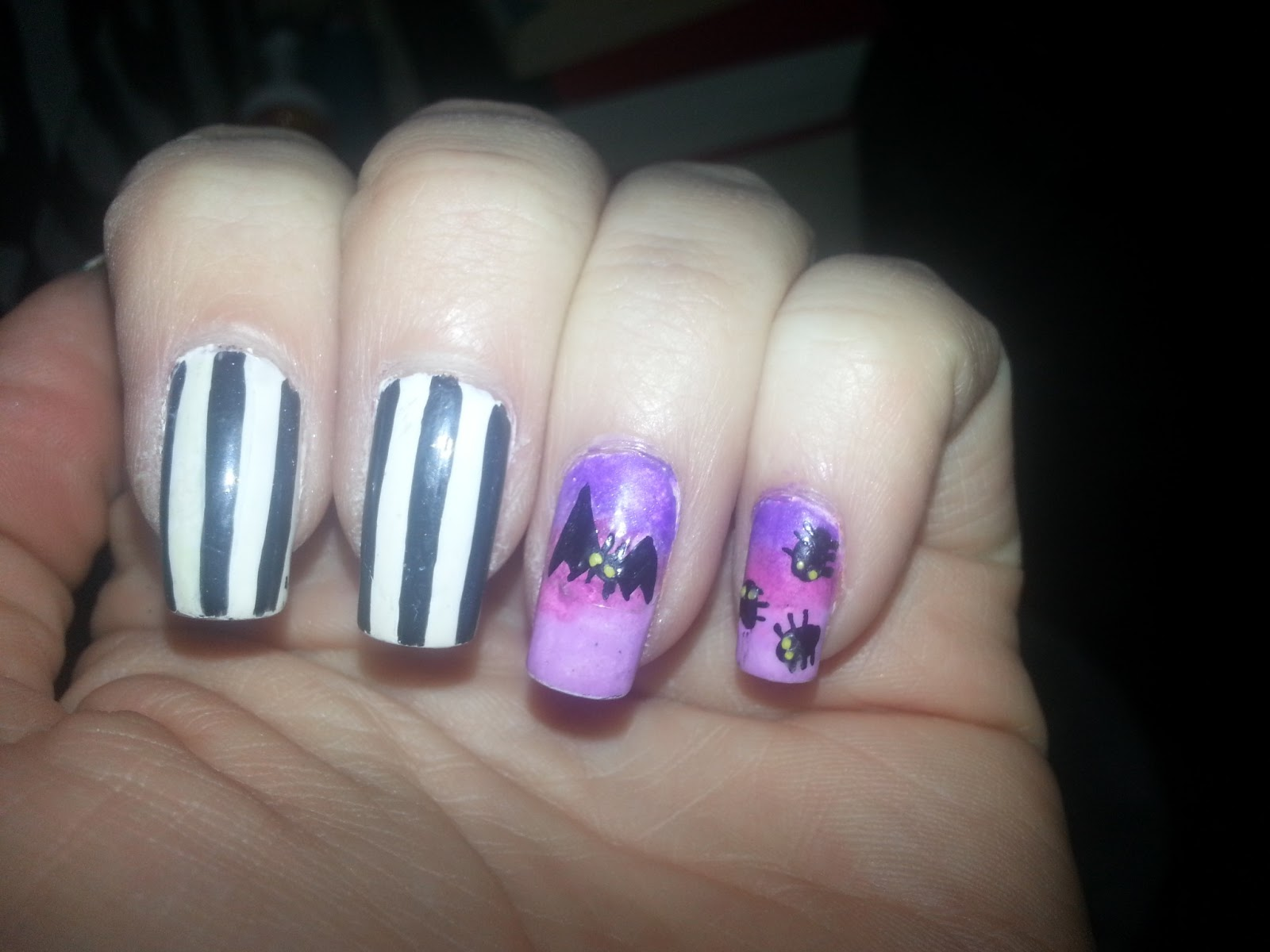 Not Your Mama\'s Nail Art: fox racing and beetlejuice