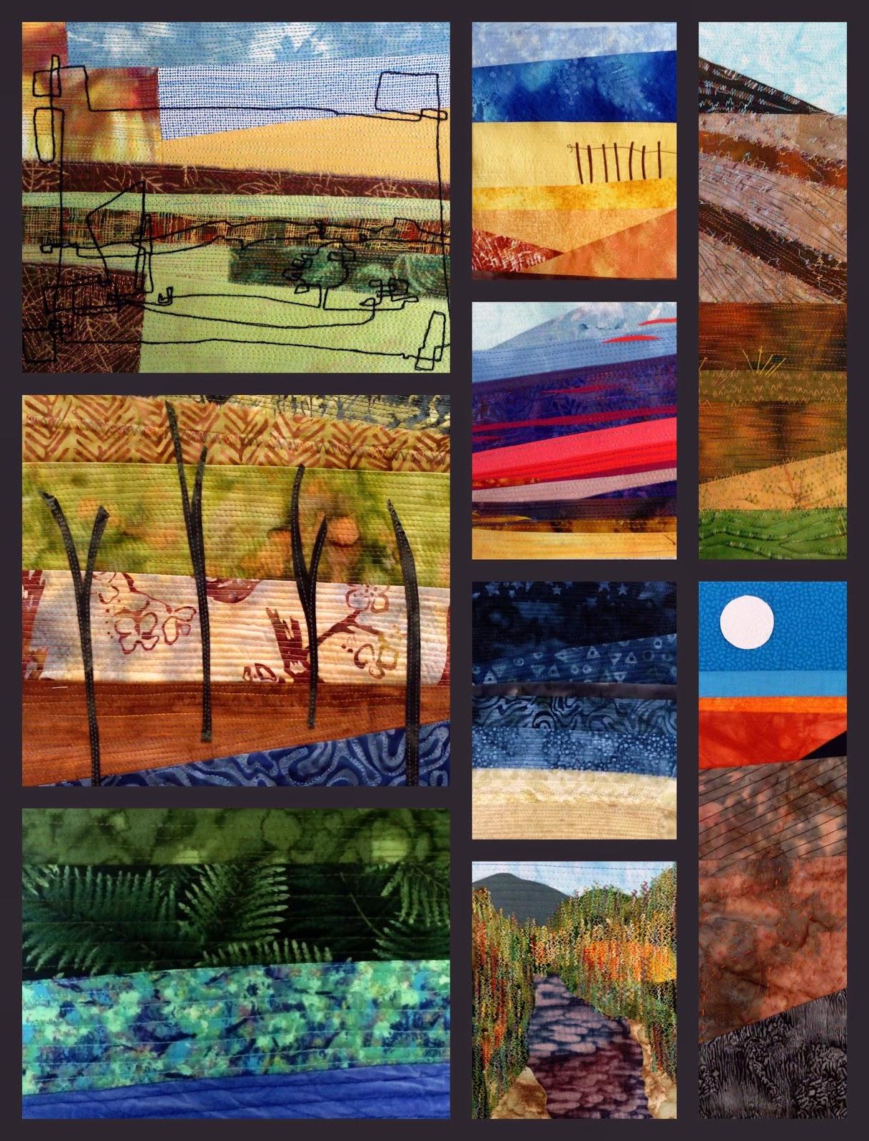 Quilt Routes Stitched Landscape Workshop