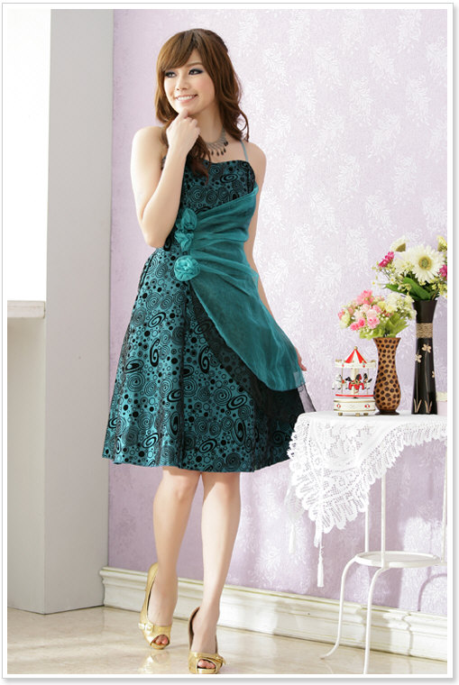 Wholesale fashion dress k1192 green8 2013