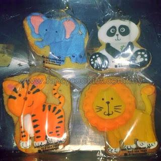 tiger, lion, elephant, panda