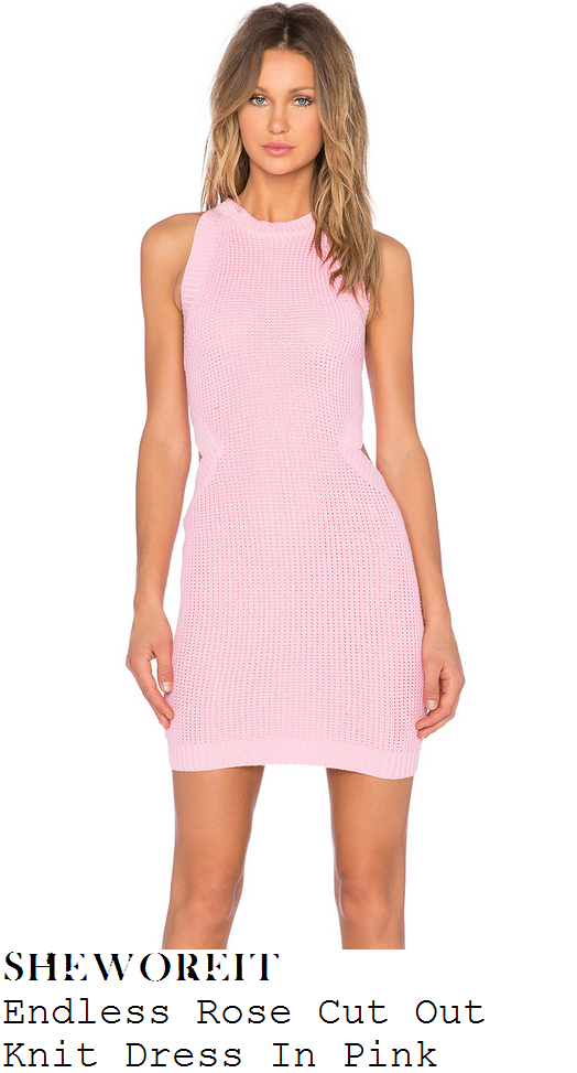 lauren-pope-baby-pink-sleeveless-knit-mini-dress