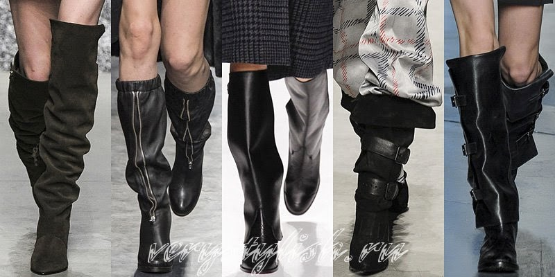 Winter 2015 Women's Lenght Boots Fashion Trends