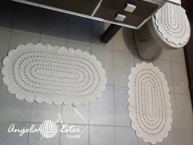Angela Ester Croche Jogo de banheiro simples # Jogo De Banheiro Simples Oval Passo A Passo