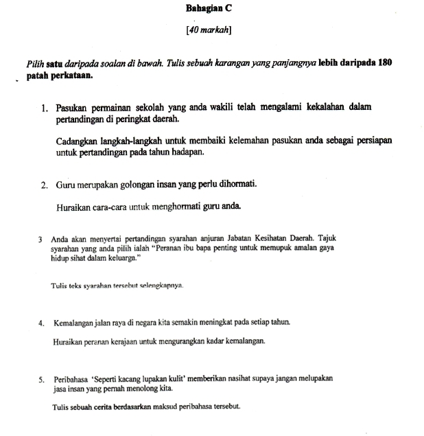 Soalan Ulangkaji Bahasa Melayu Tingkatan 1 Kebaya Poles