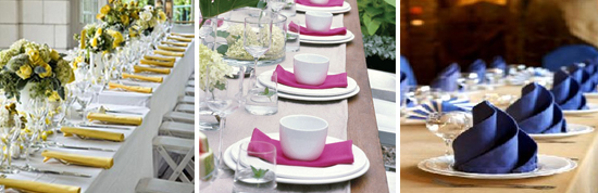 Colorful Wedding Napkins