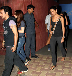 Arjun Rampal & Suzanne at the screening 'Iron Man 3'