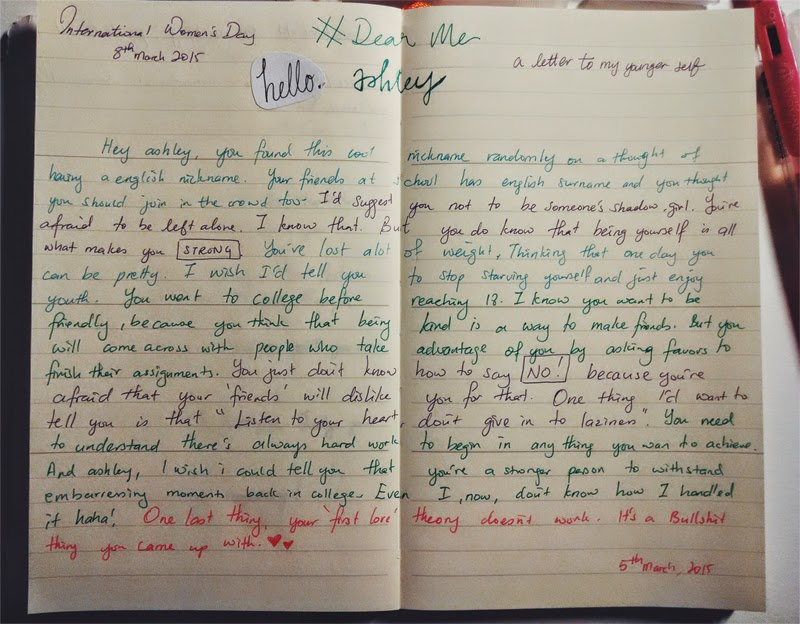 letter to my younger self letter to