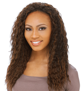 Ripple deep wave-Long ripple hair weave hairstyle picture