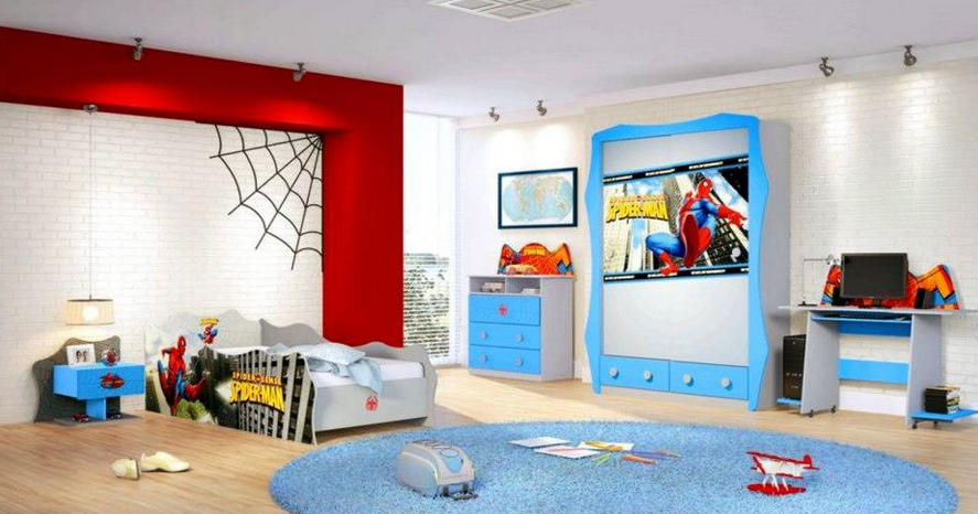 Decorar un dormitorio infantil inspirado en spiderman - Decoracion de interiores infantil ...