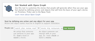 open graph developer application start
