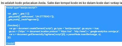 ID script Google Analytics