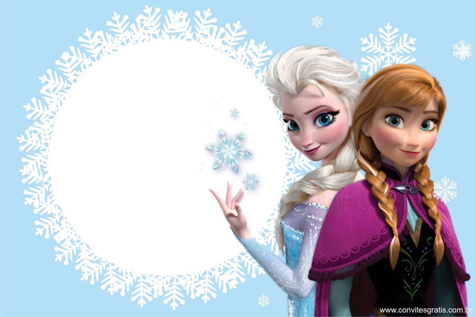 convite gratis para imprimir Frozen
