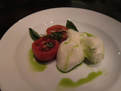 Buffalo mozzarella at Alto Vino