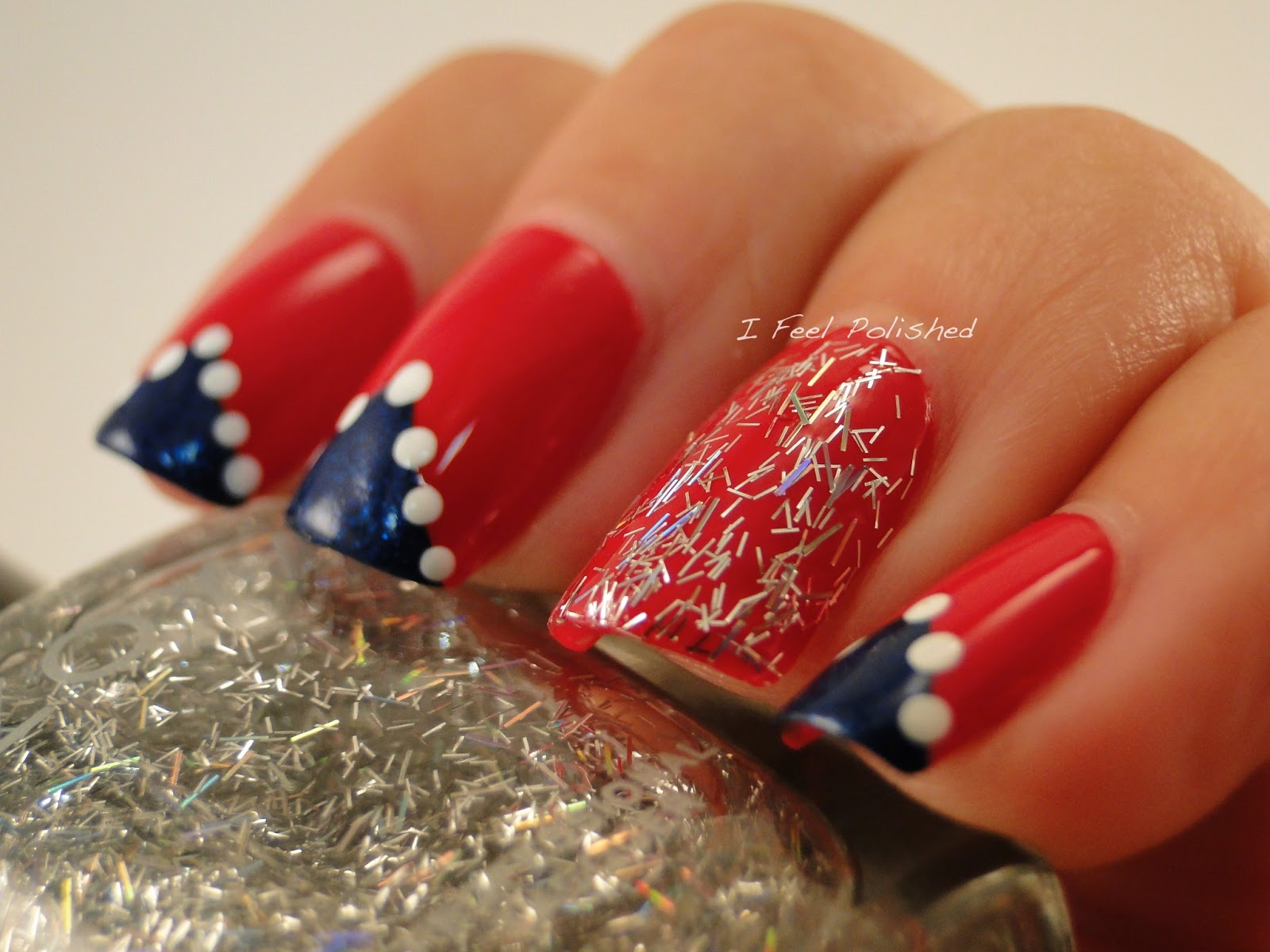 I feel polished june 2013 fourth of july nails solutioingenieria Choice Image