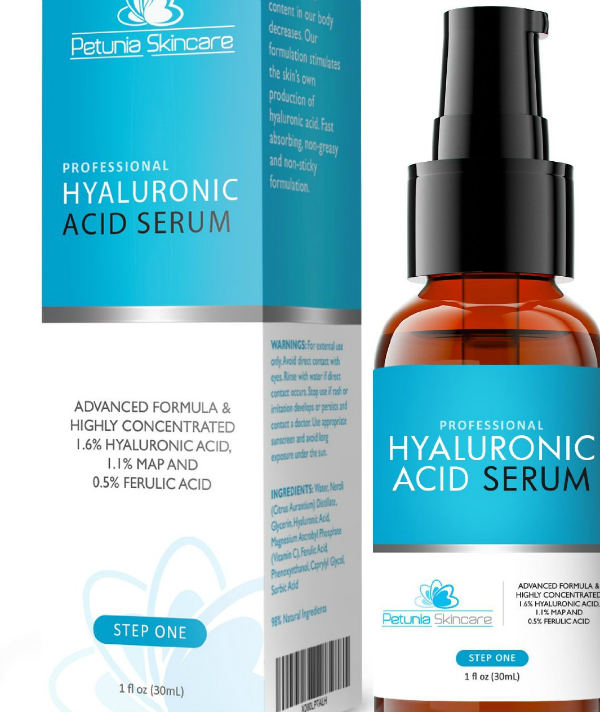 Petunia Skincare - Professional Hyaluronic Acid Serum - 30ml - 24.77$