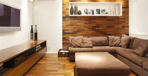 Sala De Estar Home Theater ~  de Estar Pequena integrada à sala de jantar # decoracao sala home