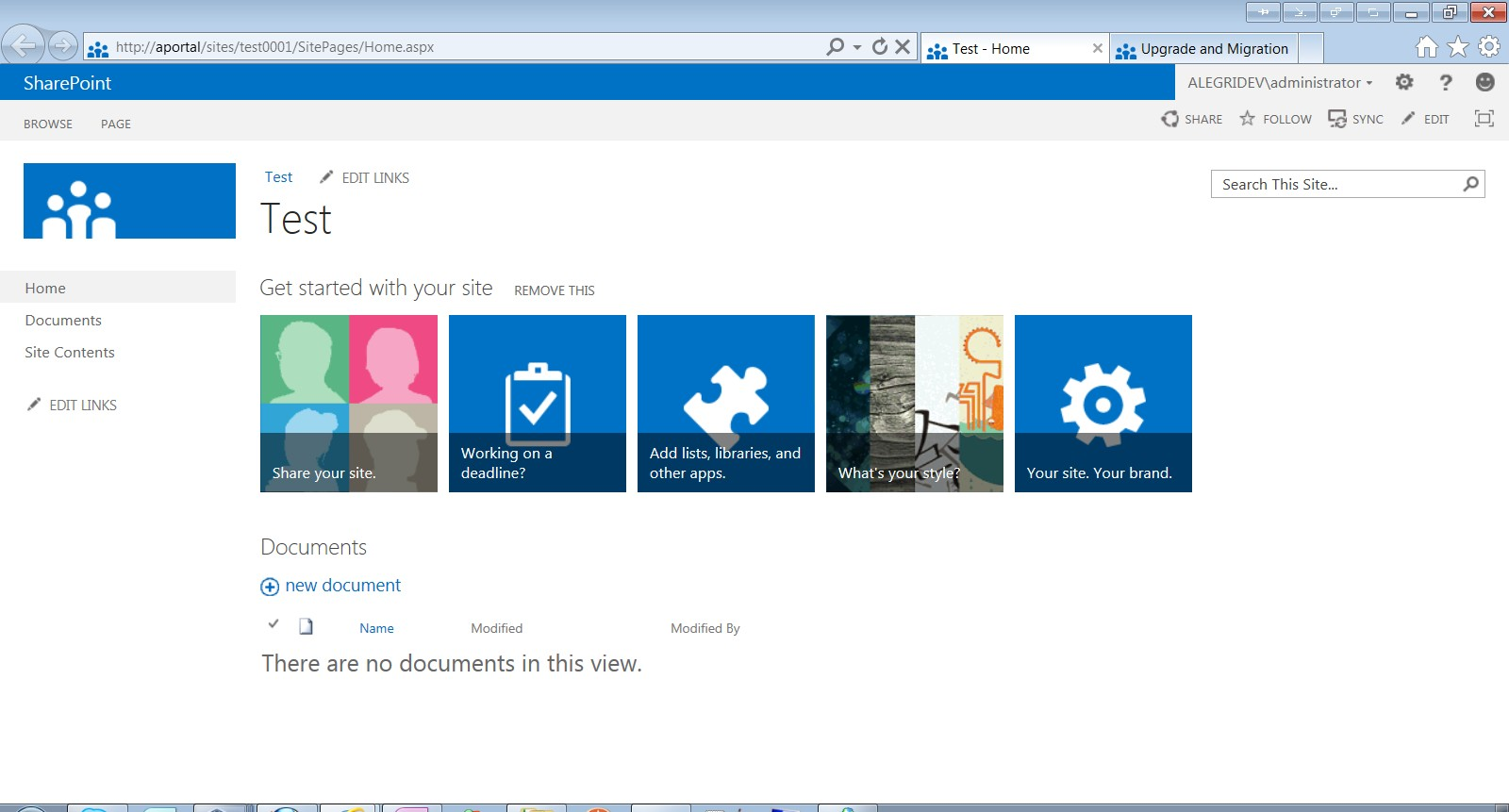 how to create a teamsite in sharepoint 2010