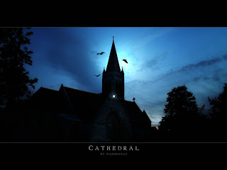 Dark Dank Cathedral Dark Gothic Wallpaper