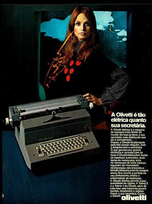 Olivetti,  1972; os anos 70; propaganda na década de 70; Brazil in the 70s, história anos 70; Oswaldo Hernandez;