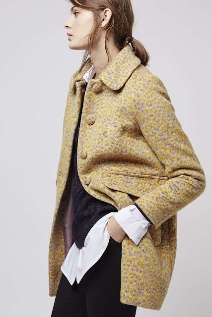 mustard leopard coat, topshop mustard coat, mustard animal print coat,
