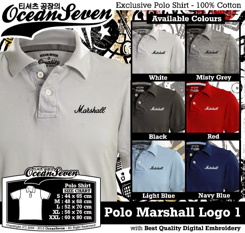 Kaos Polo Marshall Logo 1