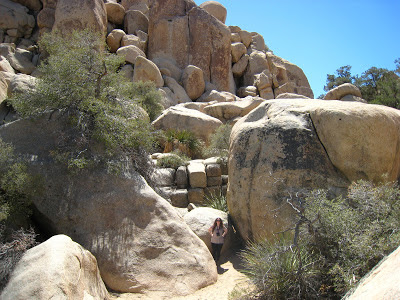 Giant rock formations Hidden Valley Ranch Joshua Tree National Park