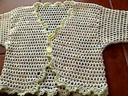 bolero em crochet