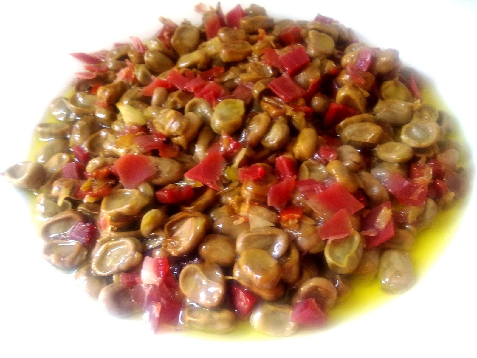 Nuestras recetas familiares habas con jam n - Habas frescas con jamon ...