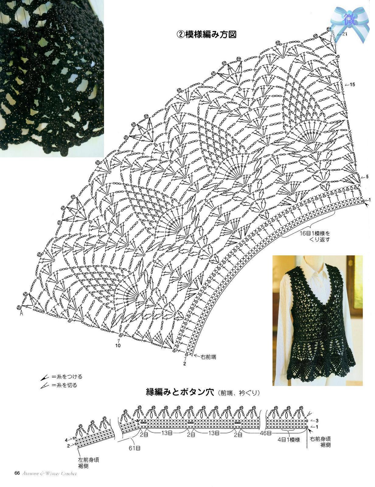 Платье с кокеткой ананасы крючком схема