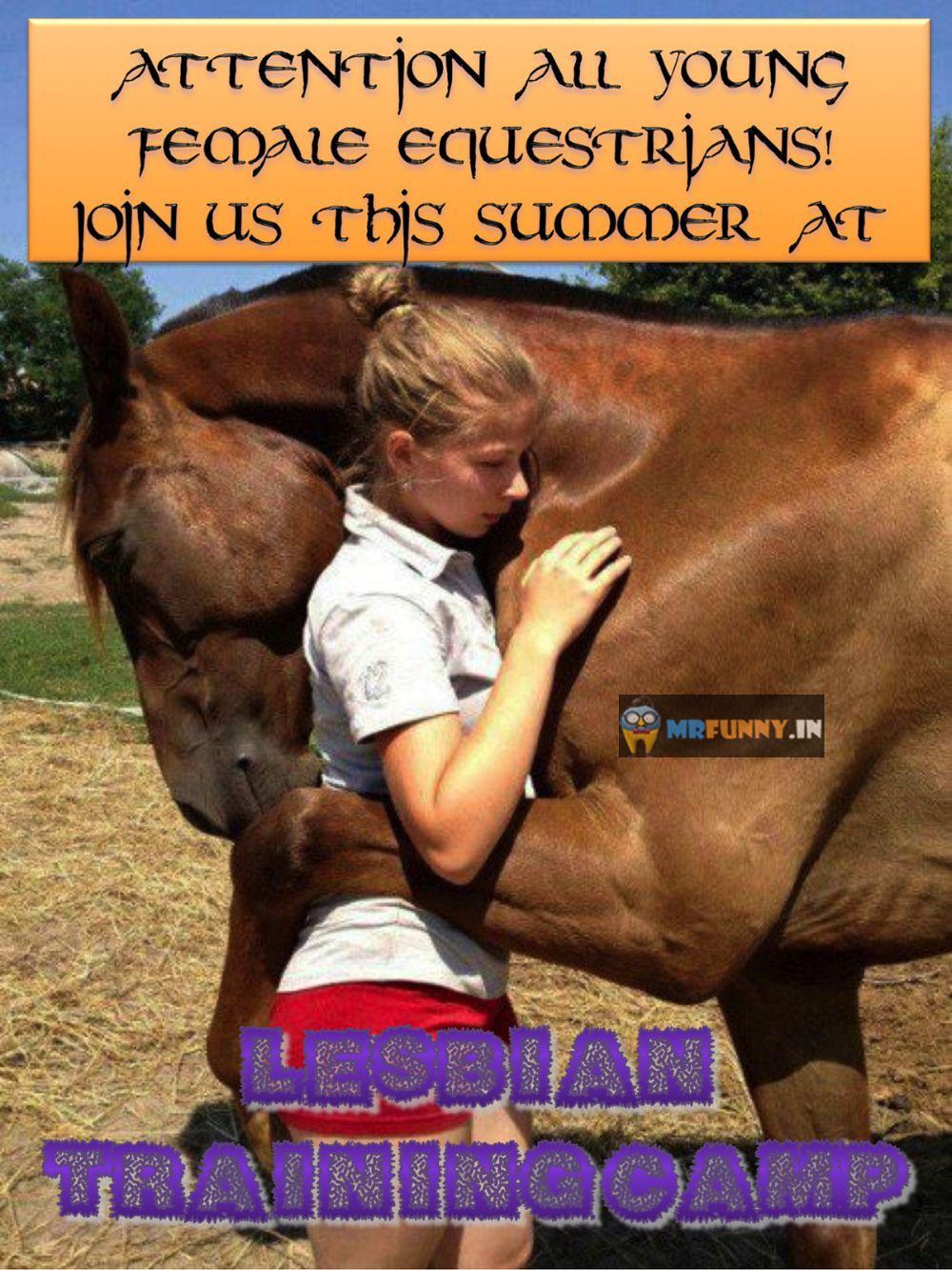 Lesbian training camp for horse loving girls
