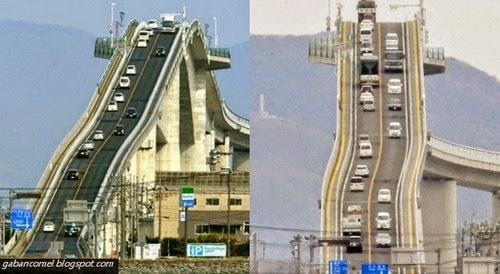 Aneh Jambatan Paling Curam dan Ekstrem di Jepun