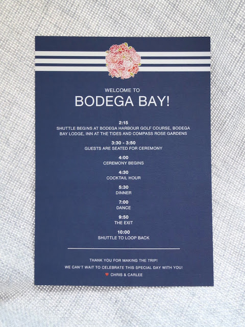 deliciously organized our wedding welcome to bodega bay