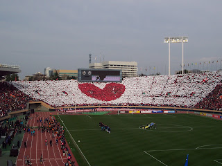 Reds fans at the National Stadium