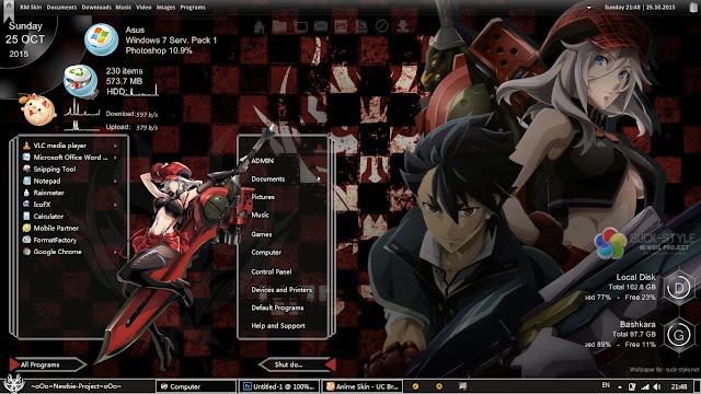 Theme Windows 7 Alisa Illinichina Amiella God Eater By Bashkara